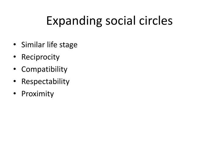 Expanding social circles