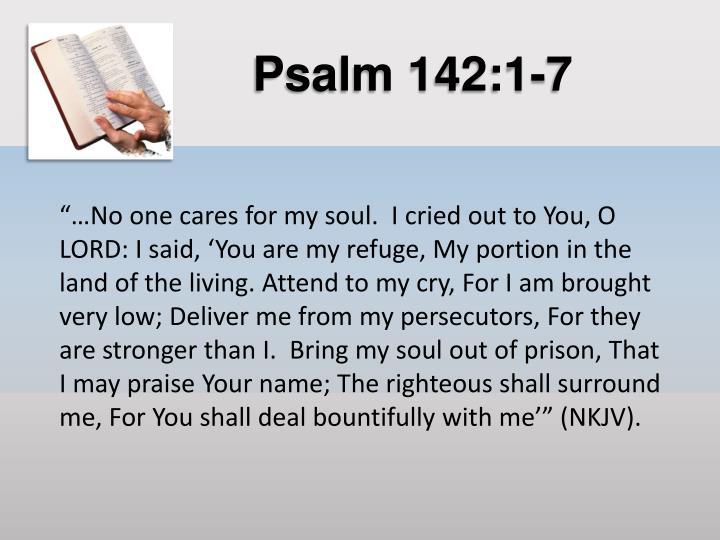 Psalm 142:1-7