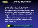 general policy directions