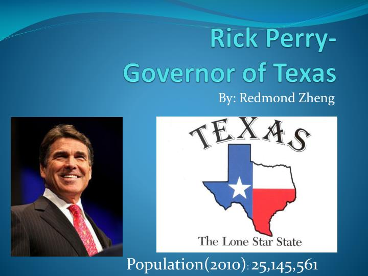 Rick perry governor of texas