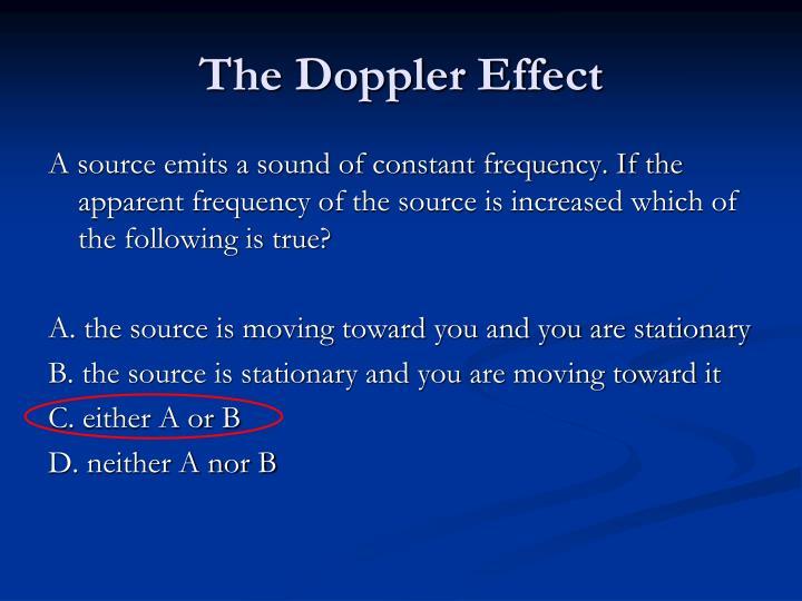 The doppler effect1