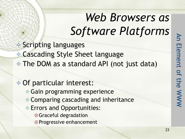 Web Browsers as