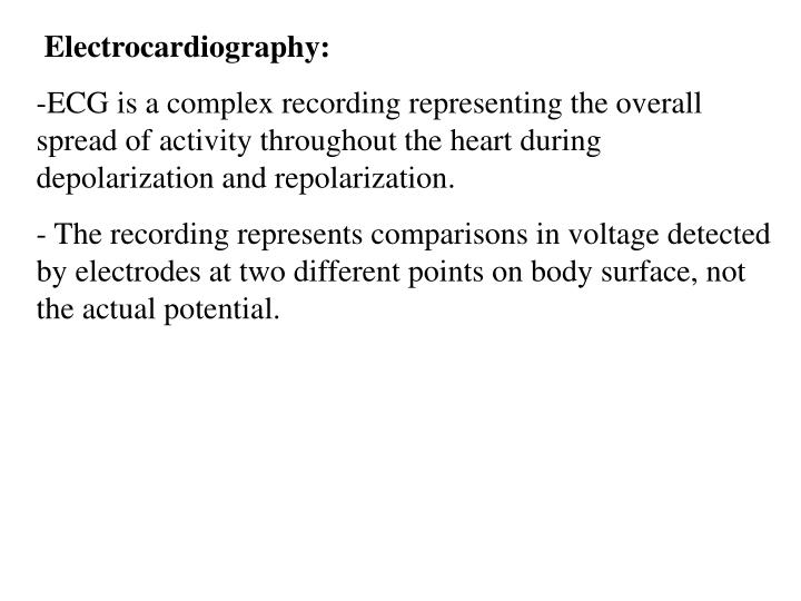 Electrocardiography: