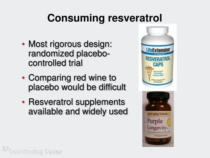 Consuming resveratrol