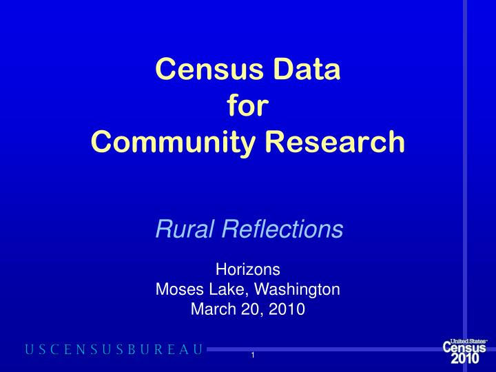 census data for community research n.