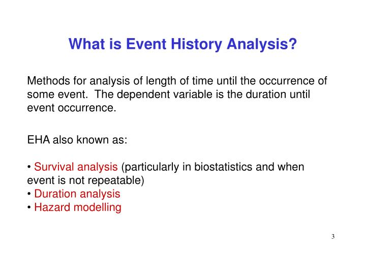 What is event history analysis1