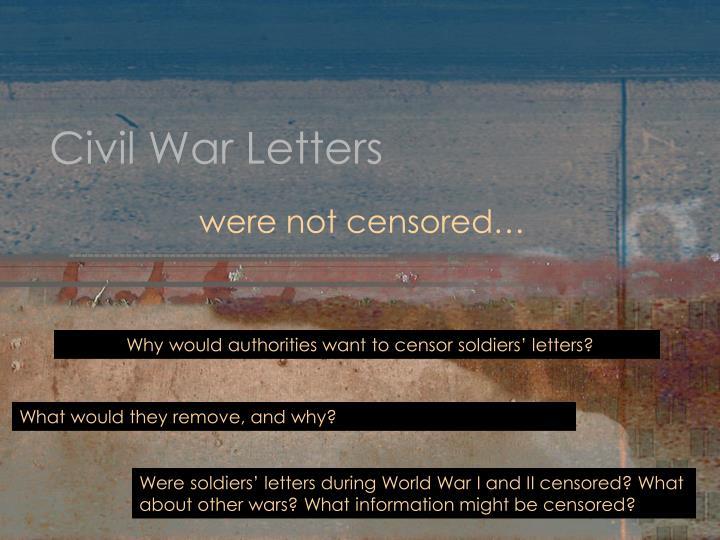 Civil War Letters