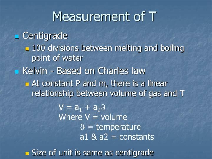 Measurement of T