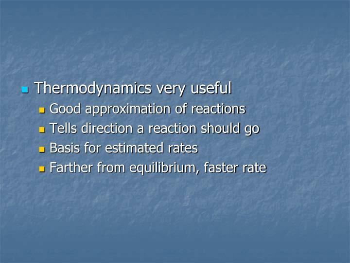 Thermodynamics very useful