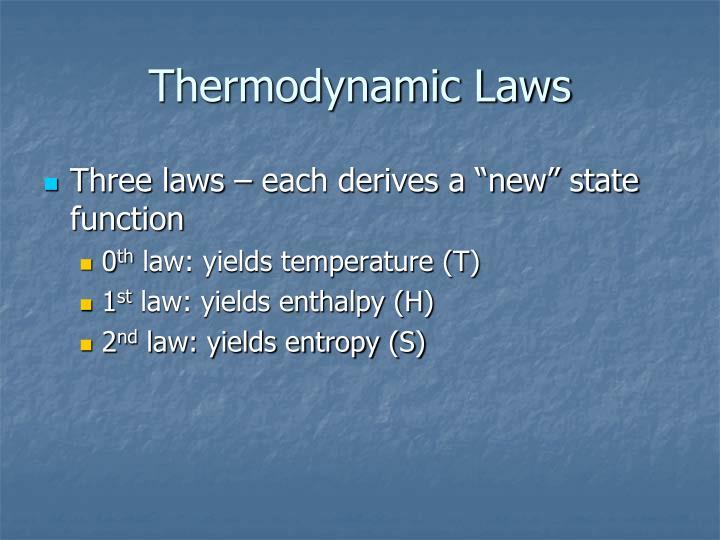 Thermodynamic Laws