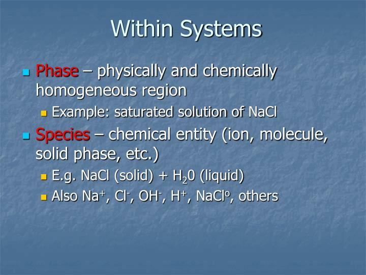 Within Systems