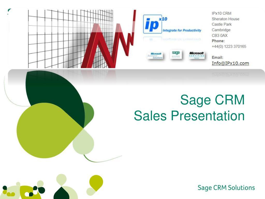 ppt sage crm sales presentation powerpoint presentation id 2626038