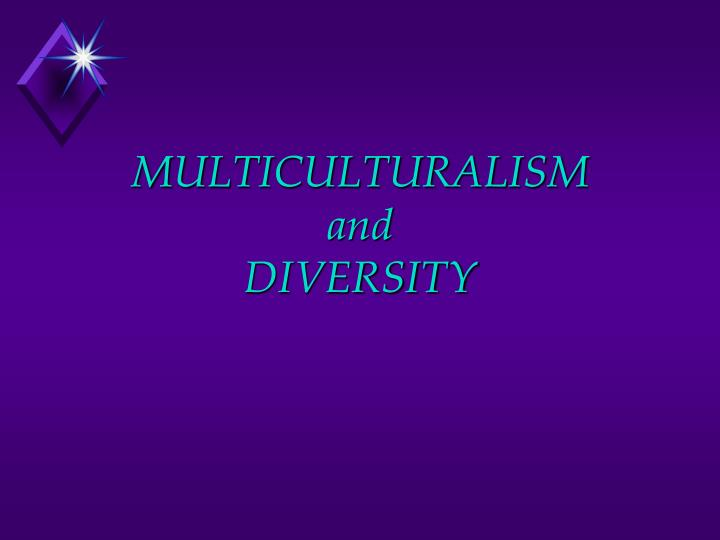 multiculturalism and diversity n.