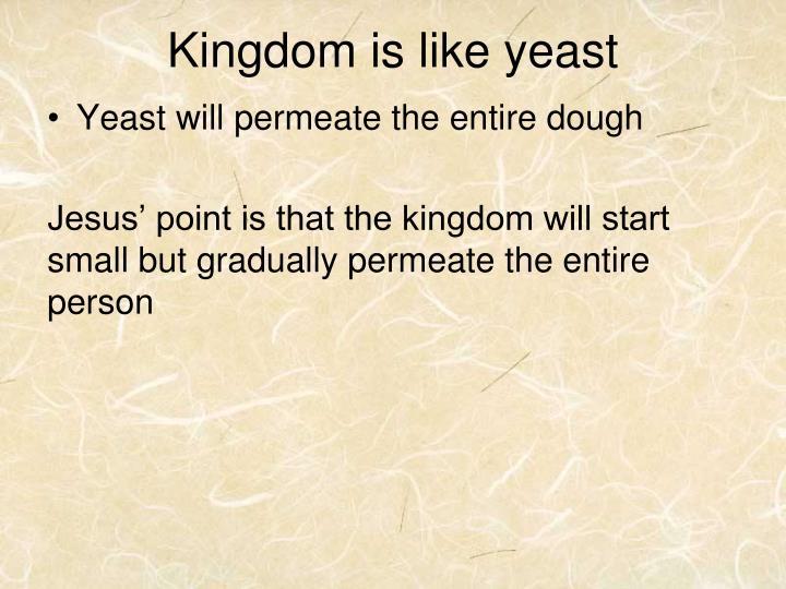 Kingdom is like yeast