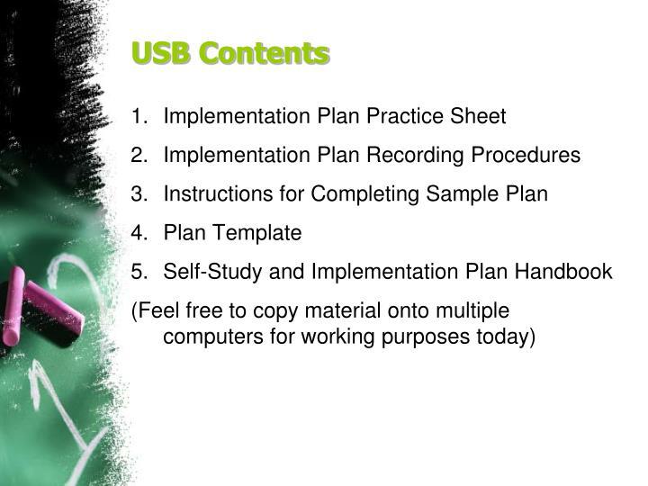 USB Contents