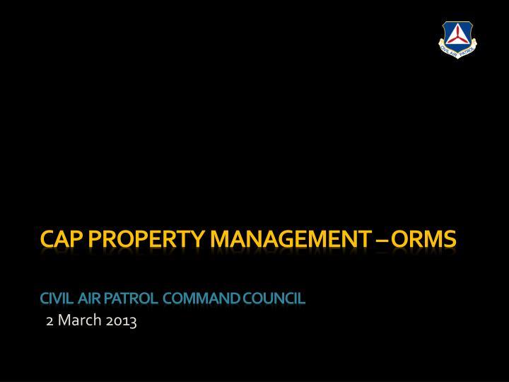 CAP Property Management – ORMS