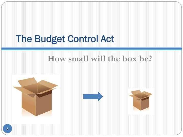 The Budget Control Act