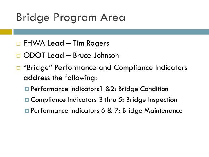 Bridge program area