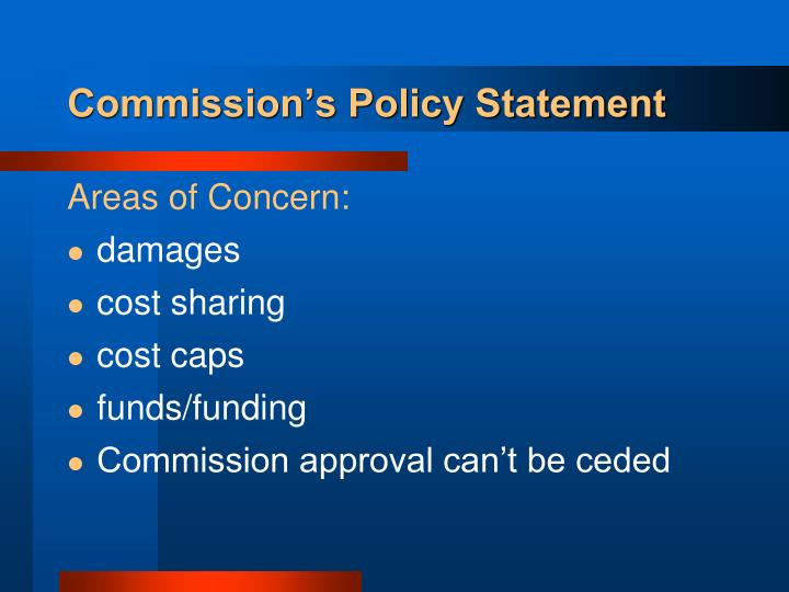 Commission's Policy Statement