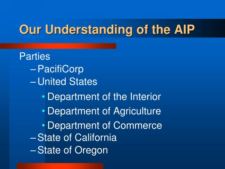 Our Understanding of the AIP