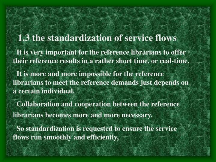 1.3 the standardization of service flows