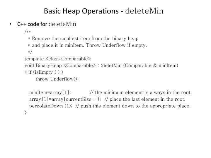 Basic Heap Operations -