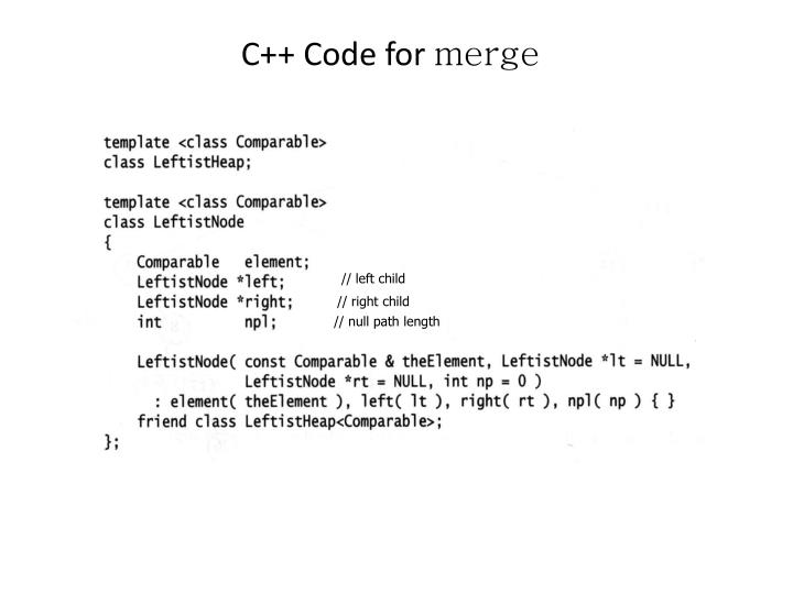 C++ Code for