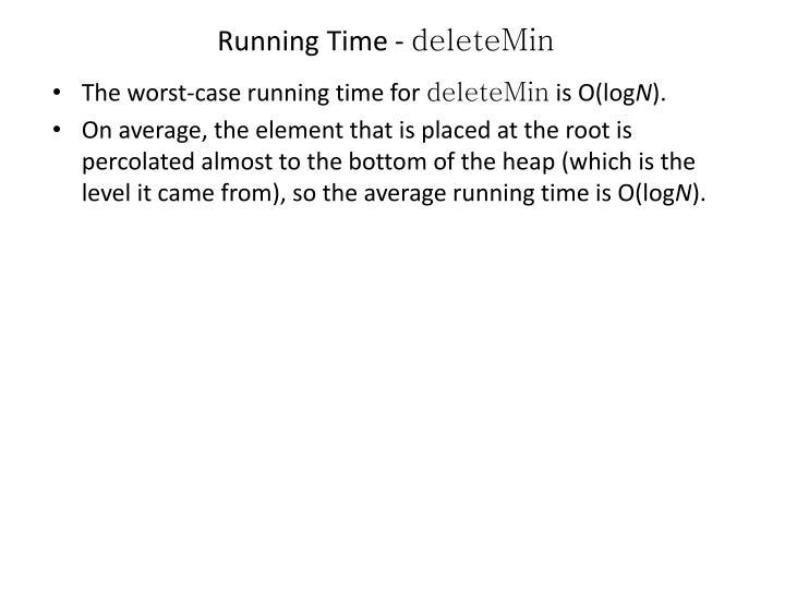 Running Time -