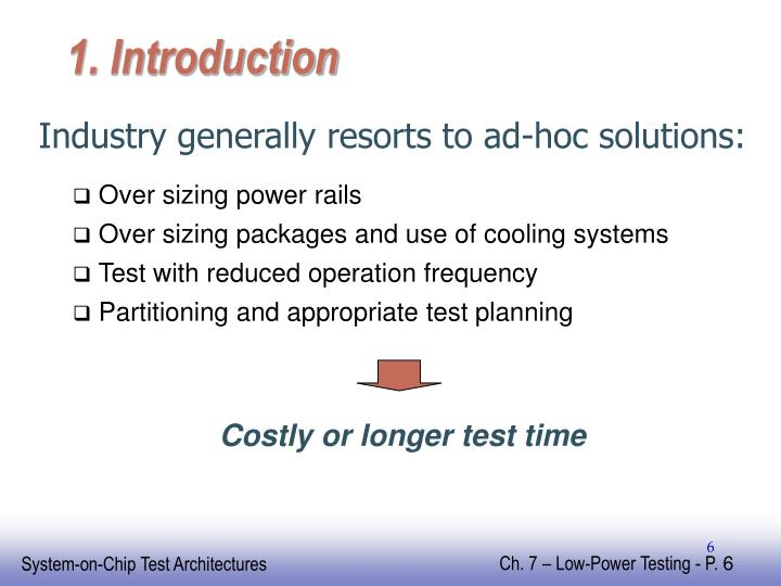 Costly or longer test time