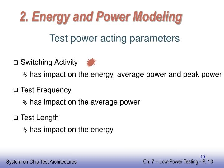 2. Energy and Power Modeling
