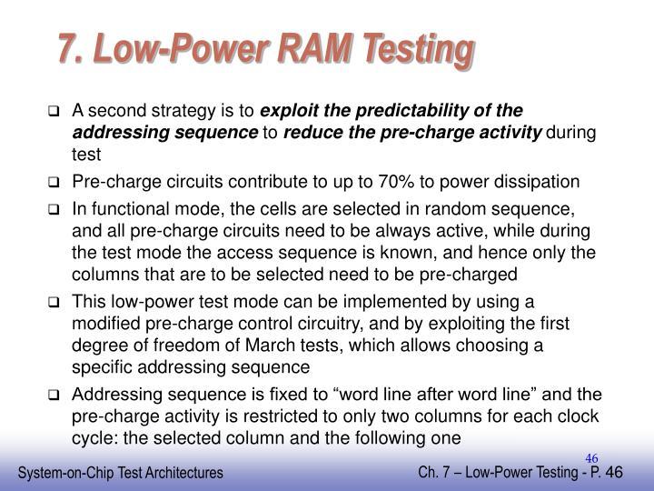 7. Low-Power RAM Testing
