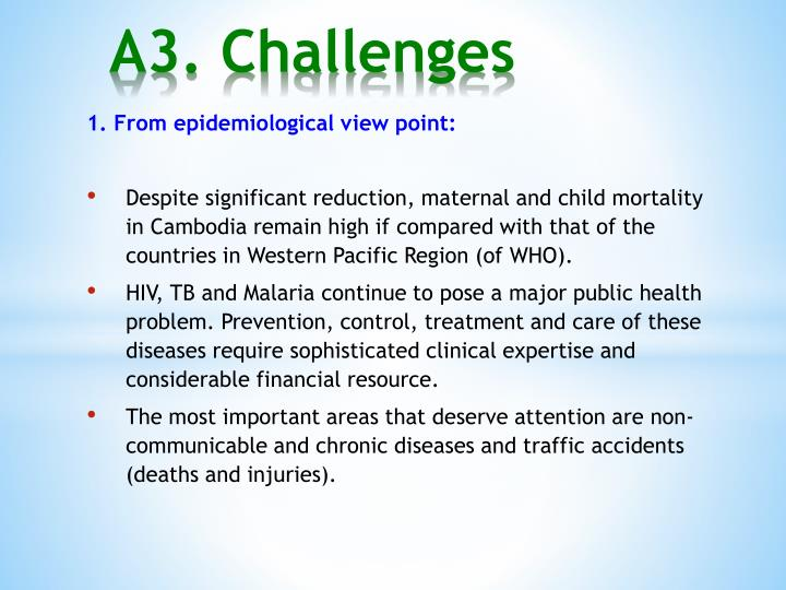 A3. Challenges