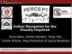indoor navigation for the visually impaired