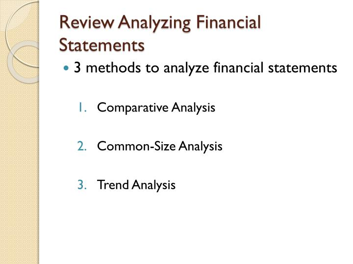 review analyzing financial statements n.