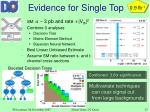 evidence for single top
