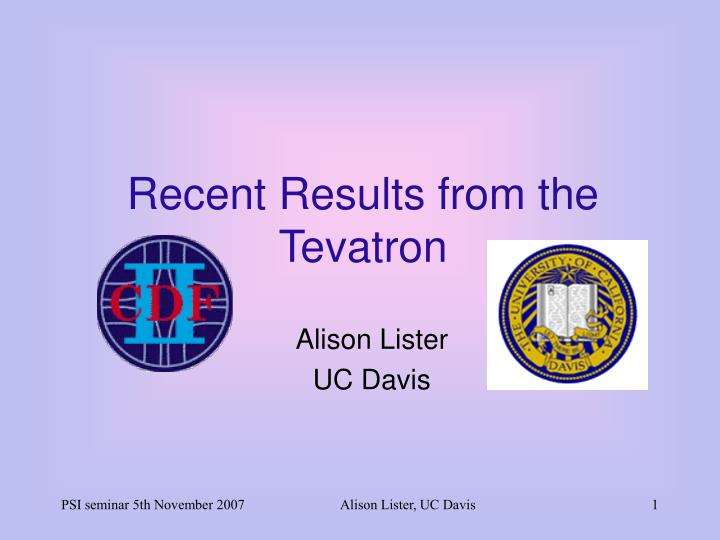 recent results from the tevatron n.