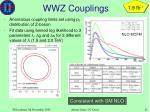 wwz couplings