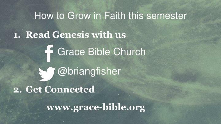 How to Grow in Faith this semester
