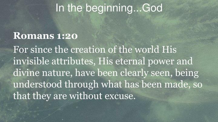In the beginning god2