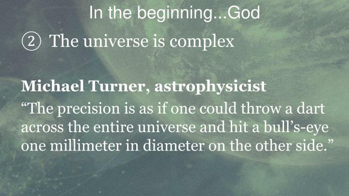 In the beginning...God