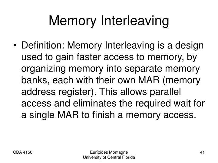 Memory Interleaving