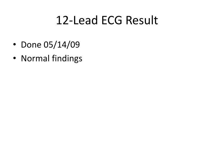 12-Lead ECG Result