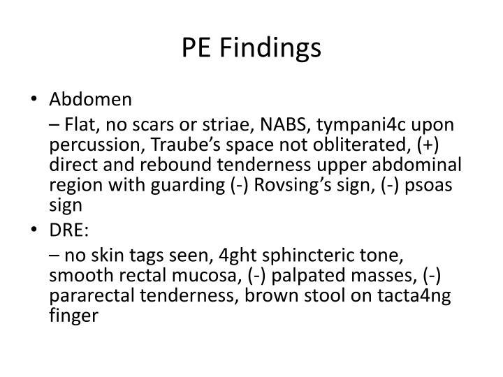 PE Findings