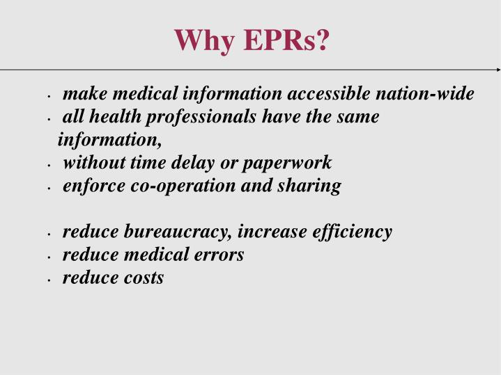 make medical information accessible nation-wide
