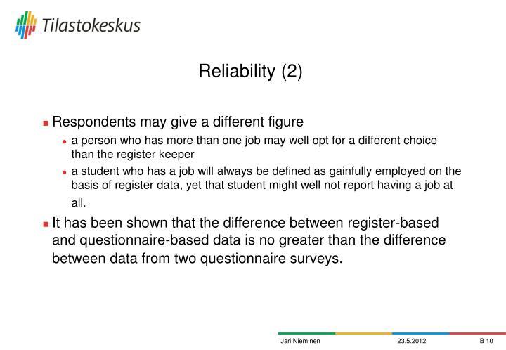Reliability (2)