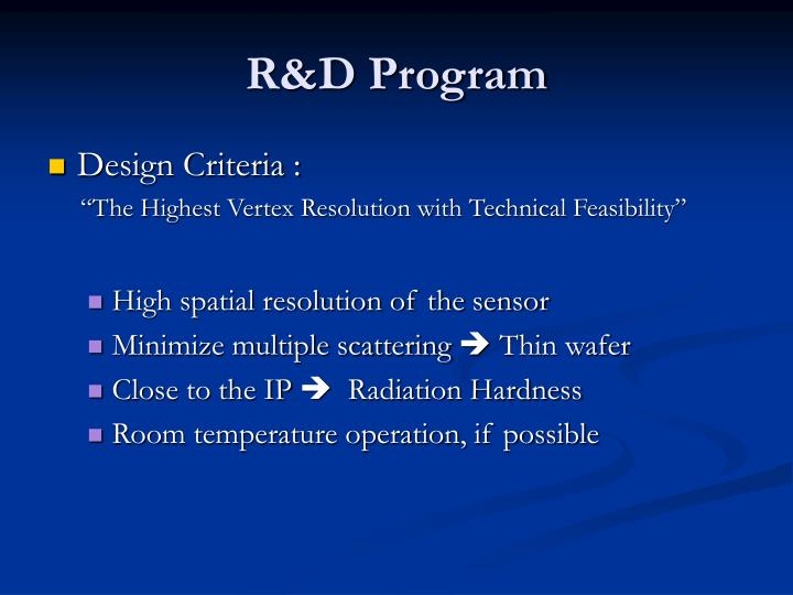 R&D Program