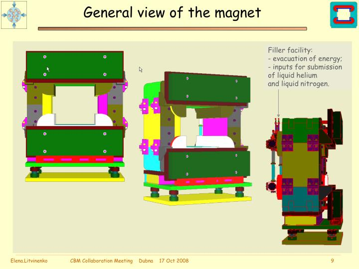 General view of the magnet