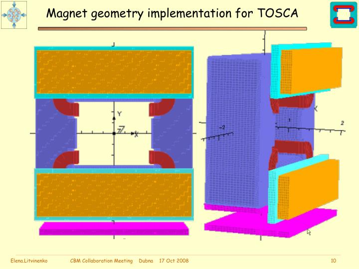 Magnet geometry implementation for TOSCA