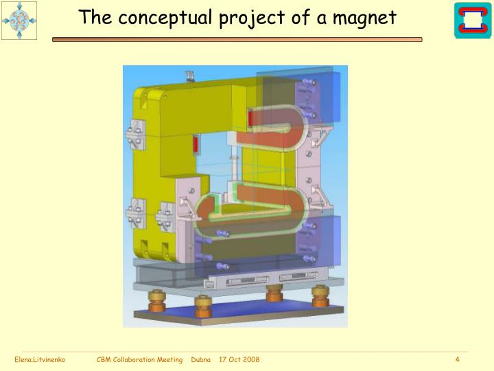 The conceptual project of a magnet