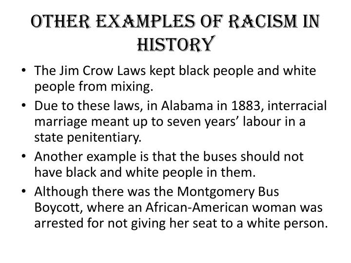 privilege racism and jim crow laws Jim crow law: jim crow law, in us history, any of the laws that enforced racial segregation in the south from the end of reconstruction to the mid-20th century.